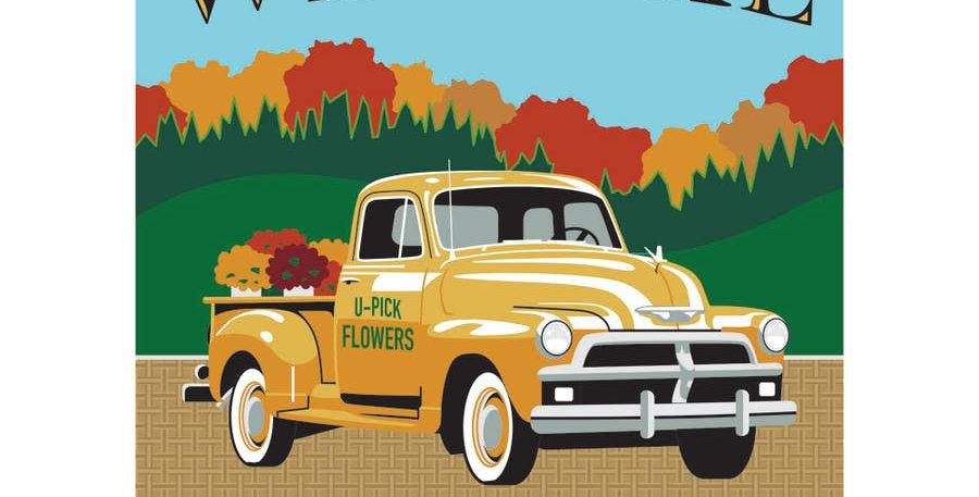 Fall Country Truck Garden Flag