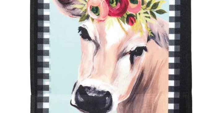 Welcome Cow Floral