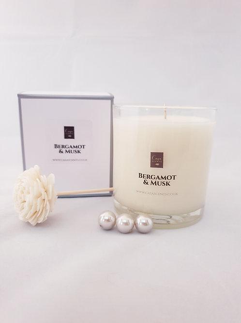 Bergamot & Musk Natural Blend Candle