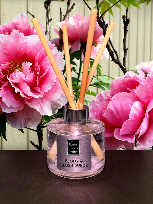 Peony & Blush Suede Reed Diffuser