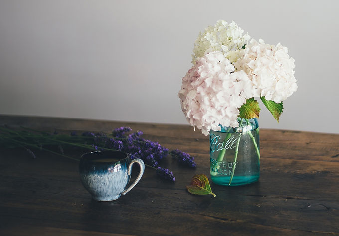 Improvisierte Vase, Deko Fotoshooting