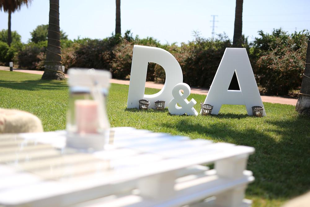 tienda online molona bodas, boda originales letras novios