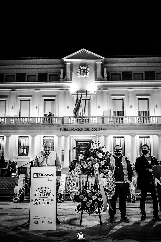 manifestacion hosteleria castellon, alvaro amores