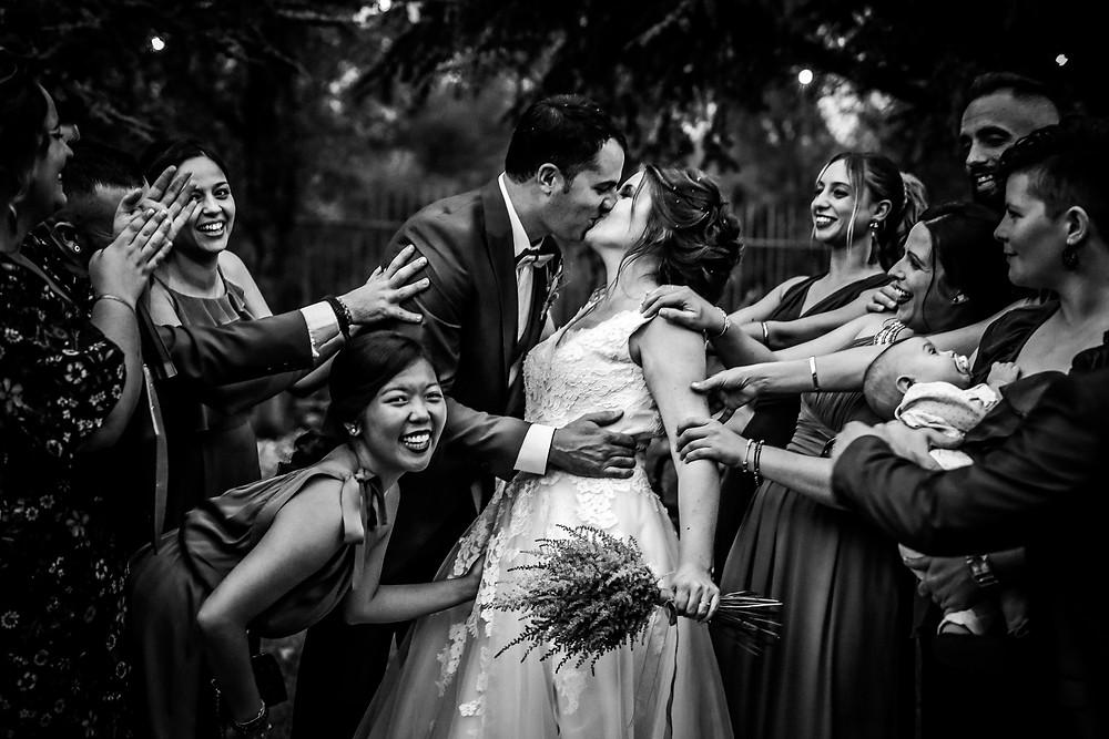 amigos en boda