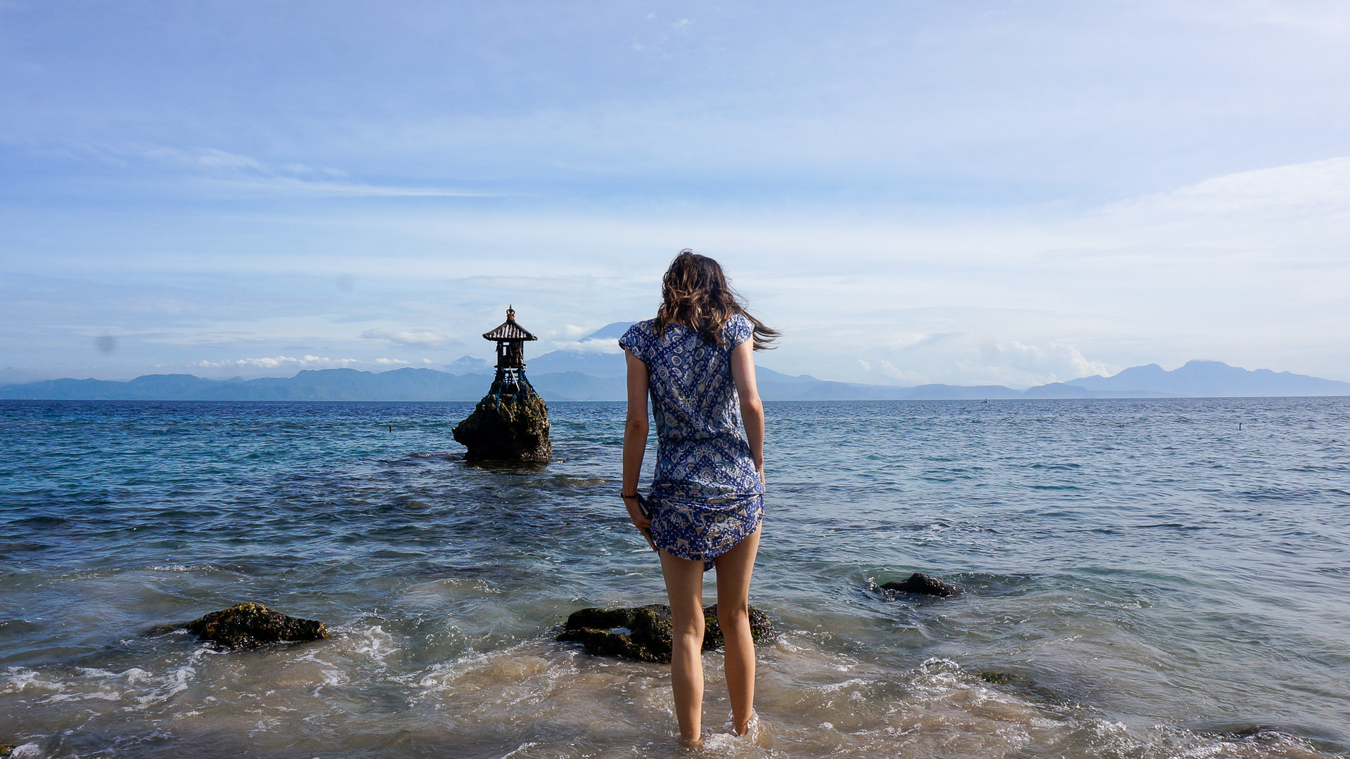 Traveling to Nusa Panida in Bali, off the tourist trail. A shot for a travel article