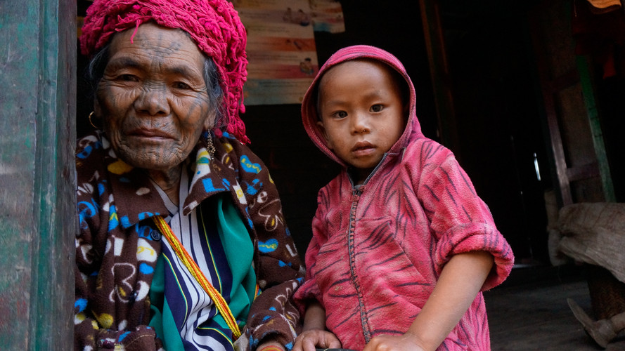 Myanmar has over 50 indigenous tribes. The Chin tribe are known for tattooing women's faces. Each subtribe has different designs. I covered this story for VICE Broadly