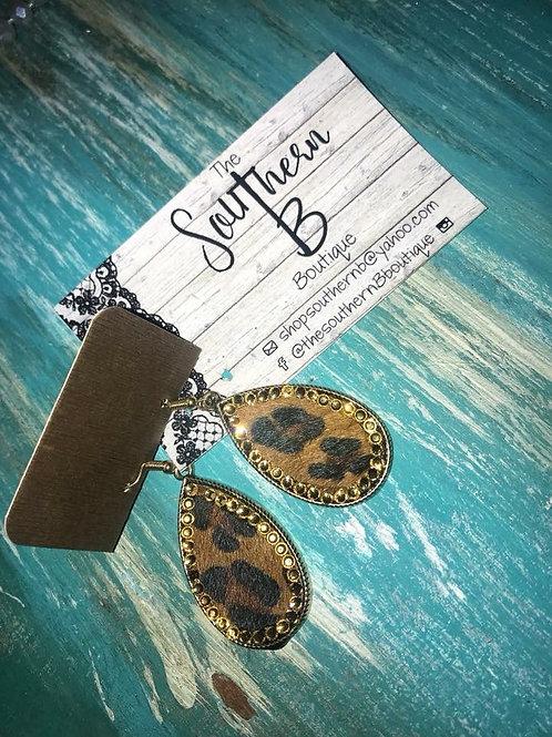 Cheetah Cowhide Wyoming earrings