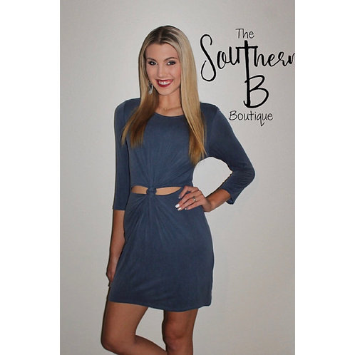 Knotted blue dress