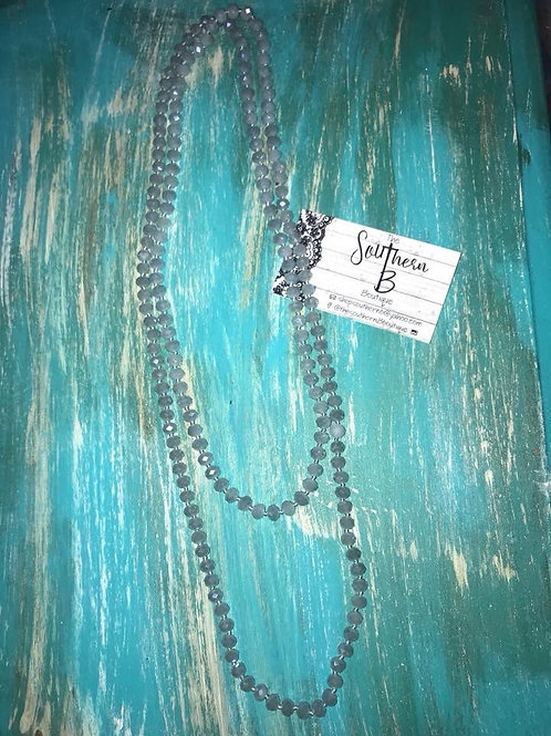 Clear Loretta Beaded necklace