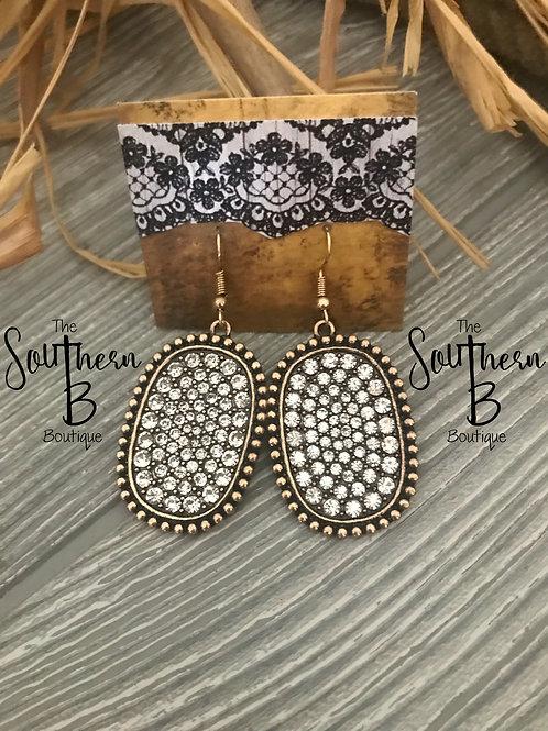 Wild West Silver on bronze Earrings
