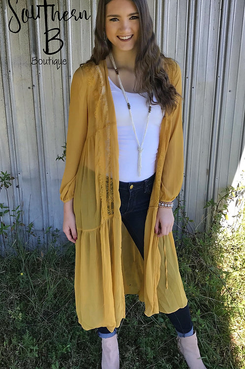 Mustard laced duster