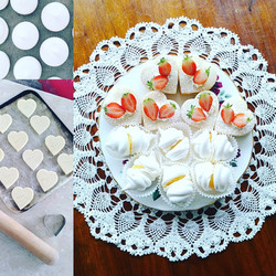 Lemon Meringues and Strawberry Shortcakes
