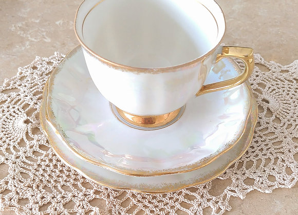 Iridescent Bone China Tea Set