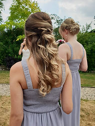 "<img src=""Bridesmaid hair.jpg alt=""boho half up half down style"">"