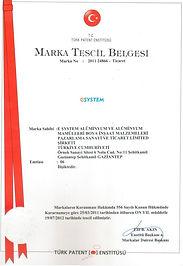 egemen alüminyum-esystem-marka-tescil