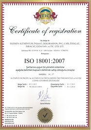 egemen alüminyum iso-18001-belgesi