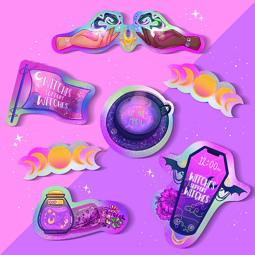 Witches Support Witches - Vinyl Sticker Pack
