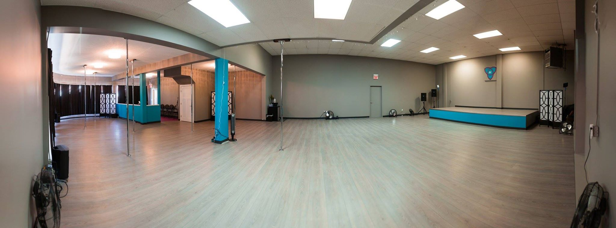 Panoramic view of the studio