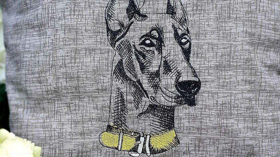 Doberman Dog Cushion