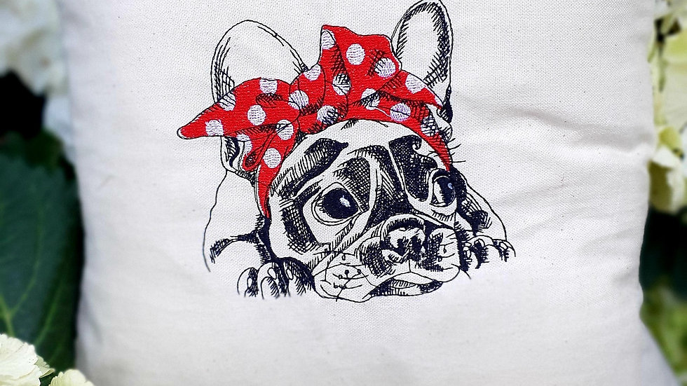 French Dog cushion