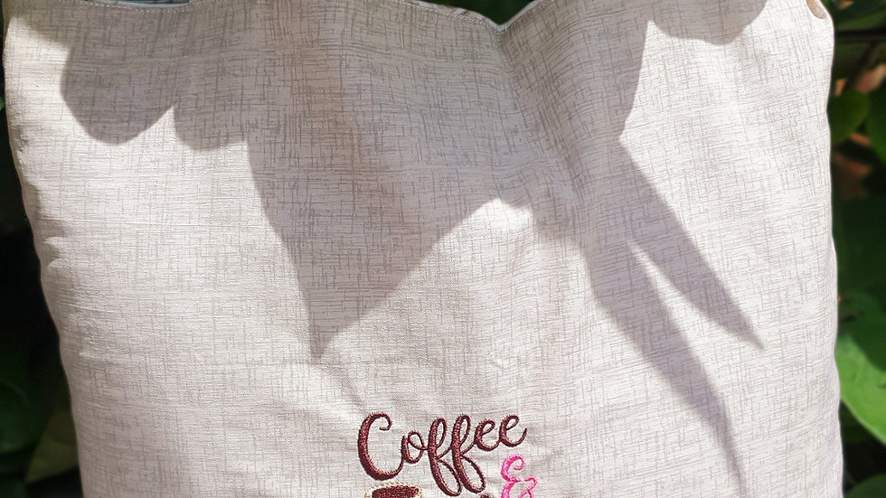Embroidered Reversible Tote Bag
