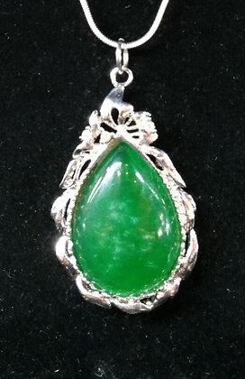 Jade Stone Teardrop Necklace