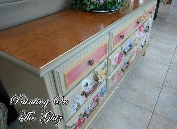 (SOLD)  Flower Dresser/Buffet