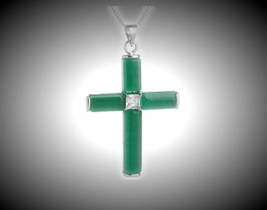 Beautiful Jade Cross Necklace