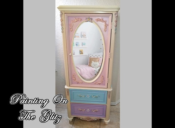 ( SOLD )  Adorable Child's Wardrobe Cabinet