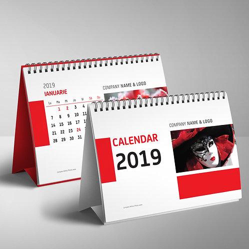Calendar Rosu & Negru