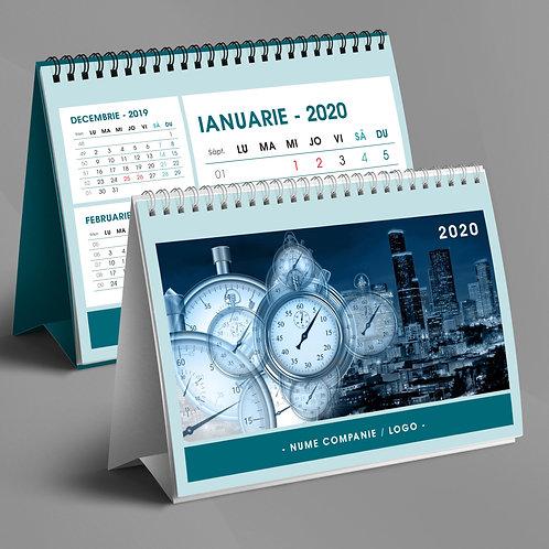 Calendar triptic fara imagini