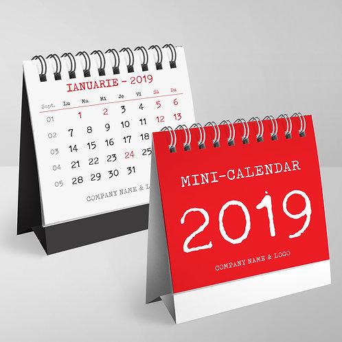Mini calendar Rosu