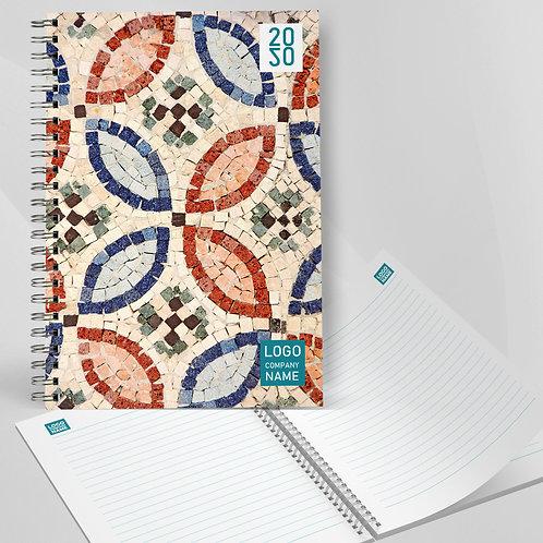 Agenda spiralata cu coperta din carton rigid