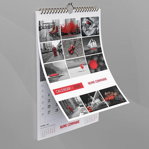 Calendar Rosu si Negru