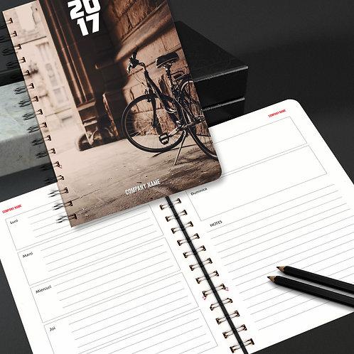Agenda spiralata cu coperta carton flexibil