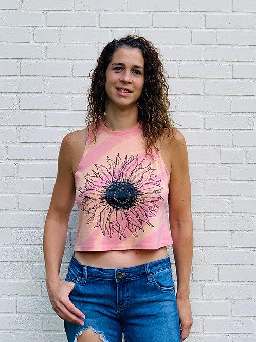 Sunflower Tie Dye Crop