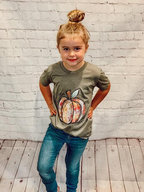 Tie Dye Pumpkin Tee Childrens