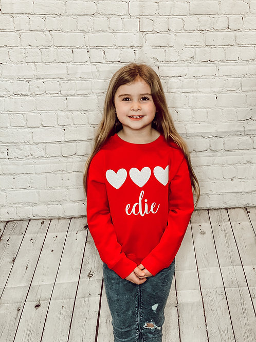 Personalized Valentines Sweatshirt