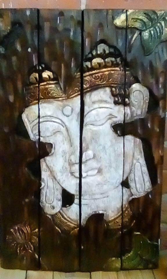 BUDDHA HEAD PANEL