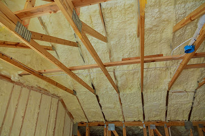 Insulation insulation of a new building