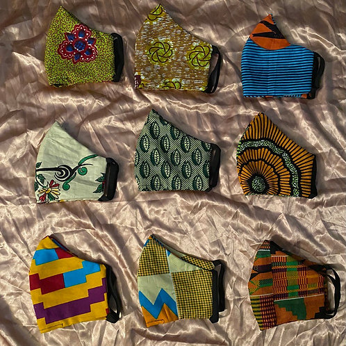 African Print Face Masks
