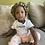Thumbnail: African Print Baby Bonnet Satin Lined