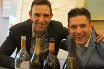 Left: Frederic Panaiotis, Champagne Ruinart & Right: Gary Westby, K&L Wine Merchant