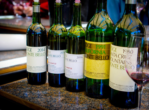 Ridge Vineyards produces a legendary wine not far from Silicon Valley
