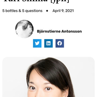 Interview at The Champagne Club by Richard Juhlin: 5 bottles & 5 questions Yuri Shima
