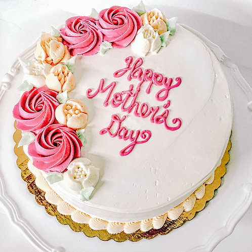 Mother's Day Cake & Flowers