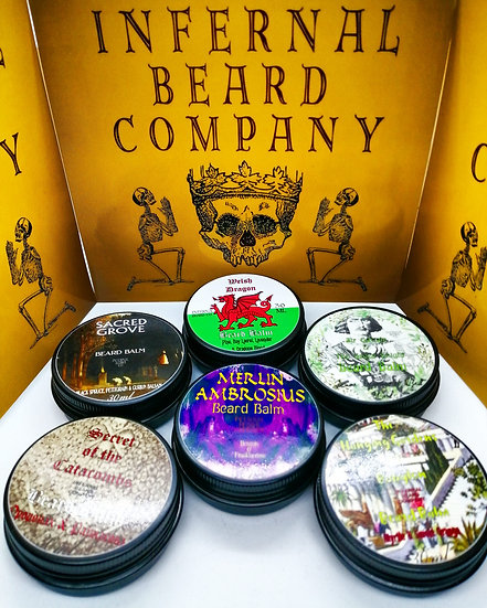 Set of 6 Organic Beard Balms