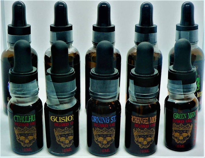 The Occult Collection 10ml Sampler Set -  Beard Oil - 5 Scents