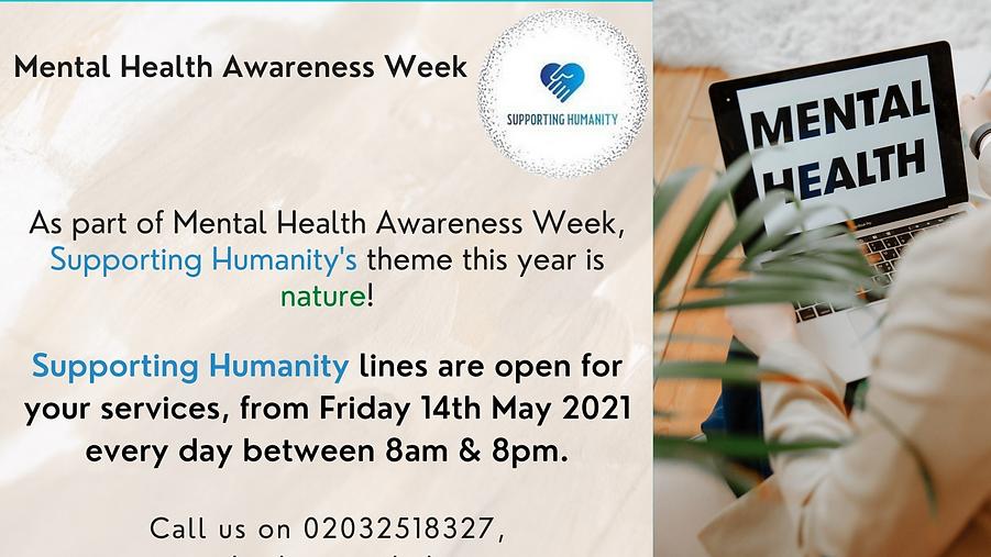 Mental health Warness week supporting Hu