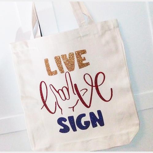 SIGN LANGUAGE Canvas Tote Bag